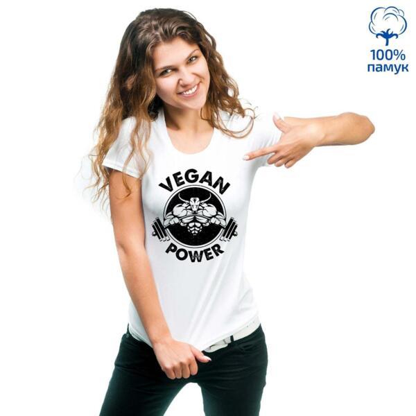 Дамска тениска Vegan power - 2