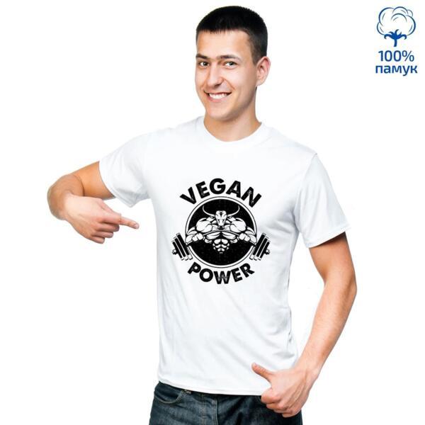 Мъжка тениска Vegan power - 2