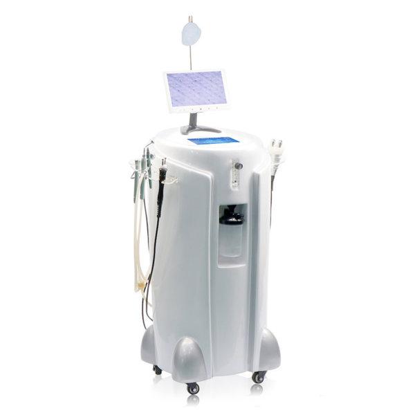 Aparat profesional cu oxigen pentru față cu peeling cu oxigen și analizator de piele