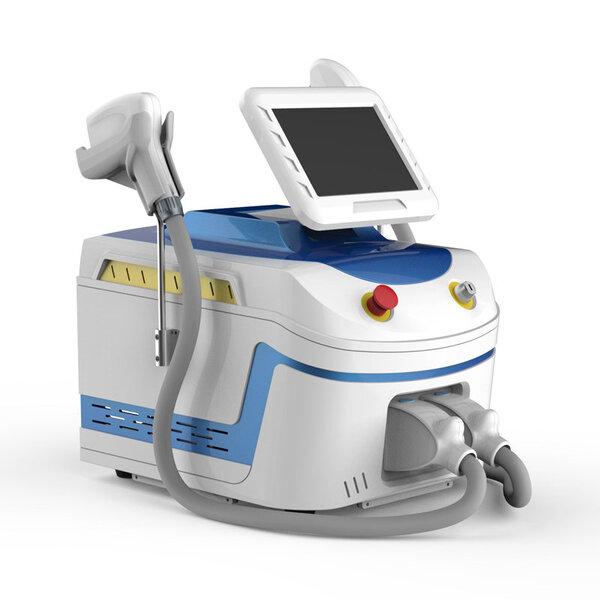 Aparat portabil combinat pentru epilare definitivă cu laser diodă cu 3 lungimi de undă + ELIGHT - IPL - SHR fotoepilare