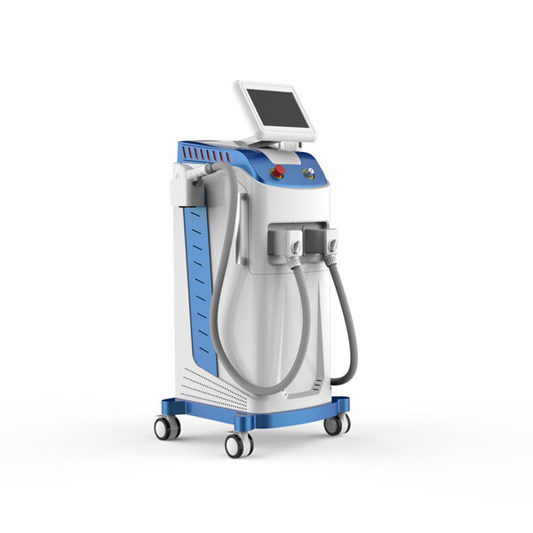 Sistem combinat pentru epilare definitiva cu laser diodă cu 3 lungimi de undă + ELIGHT - IPL - SHR Fotoepilare