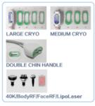 Aparat de nouă generație pentru criolipoliză 360 ° pentru corp și bărbie dublă + Cavitație + RF + Lipolaser