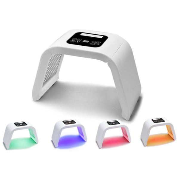 Aparat pentru terapie facială cu LED în 4 culori de lumină