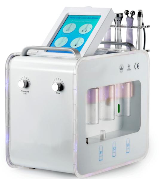 Sistem combinat pentru hidradermabraziune, RF și Crioterapie