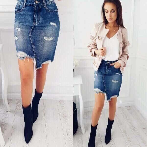Модерна дамска дънкова пола