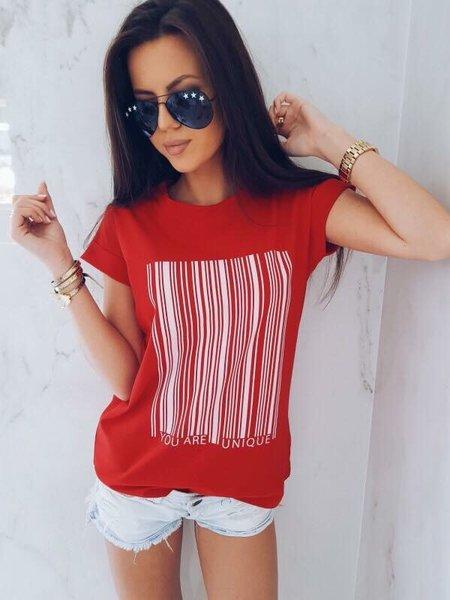 Модерна дамска тениска с щампа
