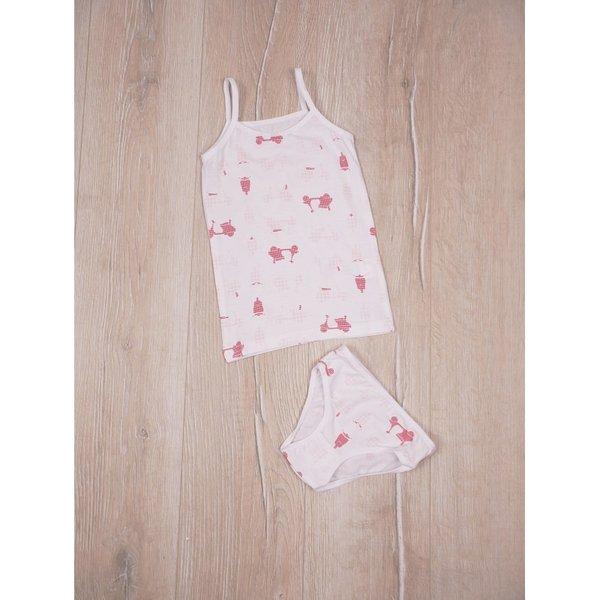 Детски памучен комплект бельо за момиченца