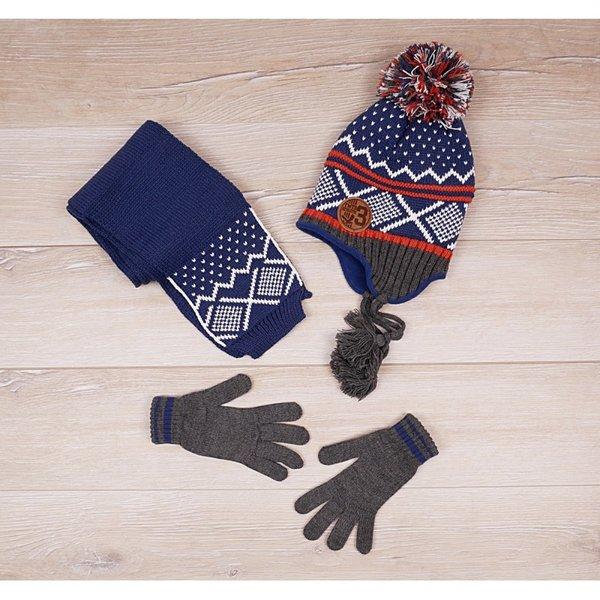 Детски комплект от три части - ръкавици, шал и шапка