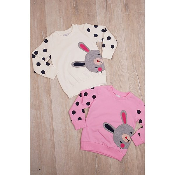 Детска блузка с апликация ''Зайче''