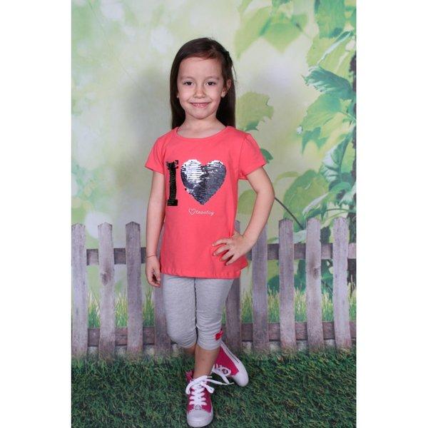 Модерна блузка за момиче с пайети