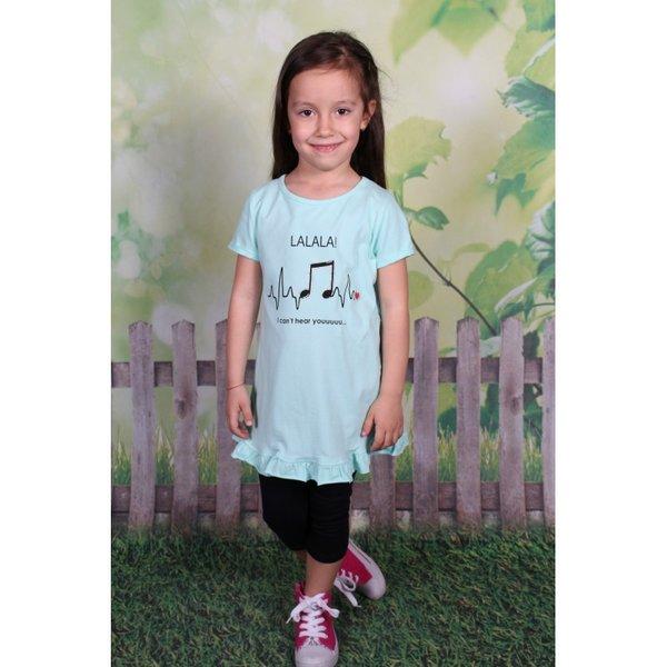 Детска рокличка с ноти