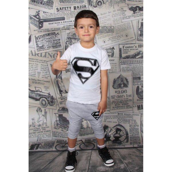 Комплект за момче с апликация ''Супермен''