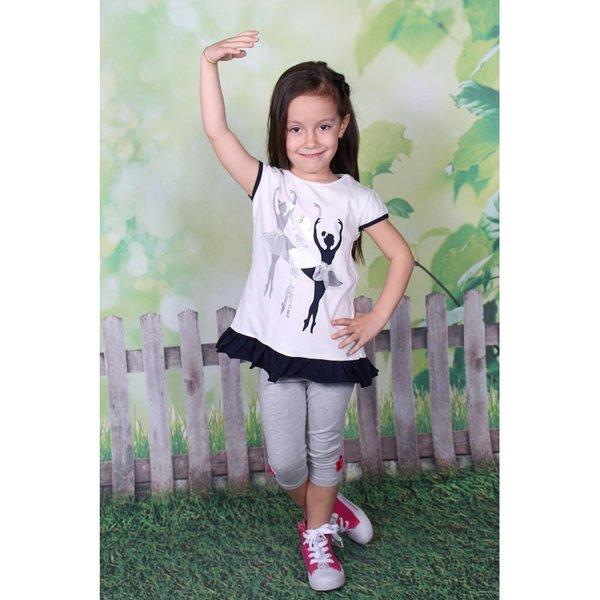 Детска туника с апликация ''балерина''