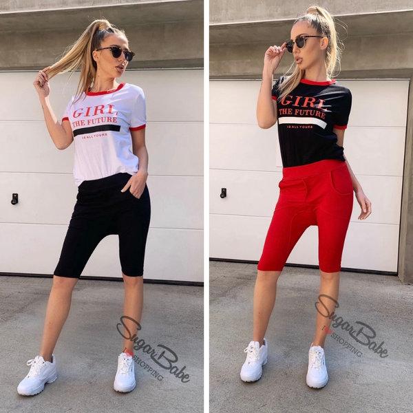 Спортен комплект с къси панталонки и тениска '' Sbstyle''