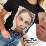 Модерна тениска с атрактивна щампа ''Vogue''