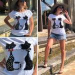 Дамска тениска ''Cat Twins''