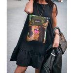 Кокетна рокличка с щампа