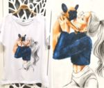 Памучна тениска с щампа ''I LOVE PUPPY''