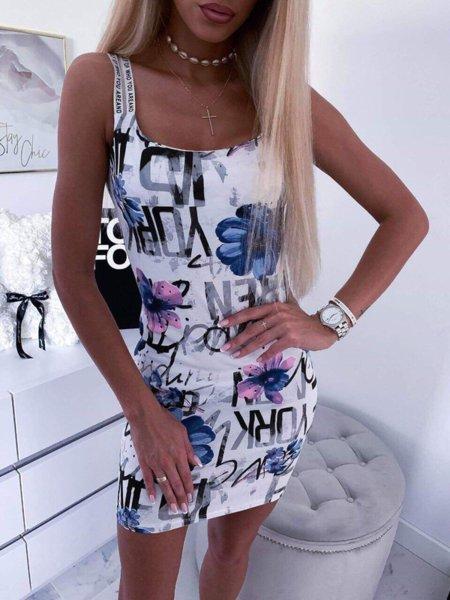 Модна рокличка с цветен десен
