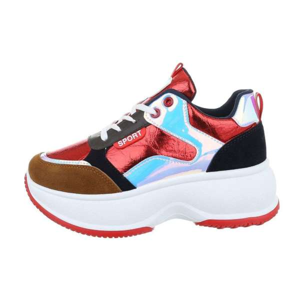 Спортни обувки на платформа Red- SW