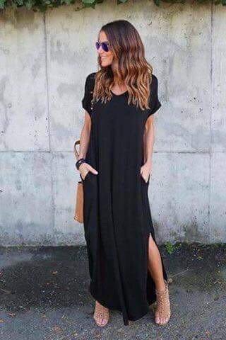 Памучна дамска рокля с къс ръкав