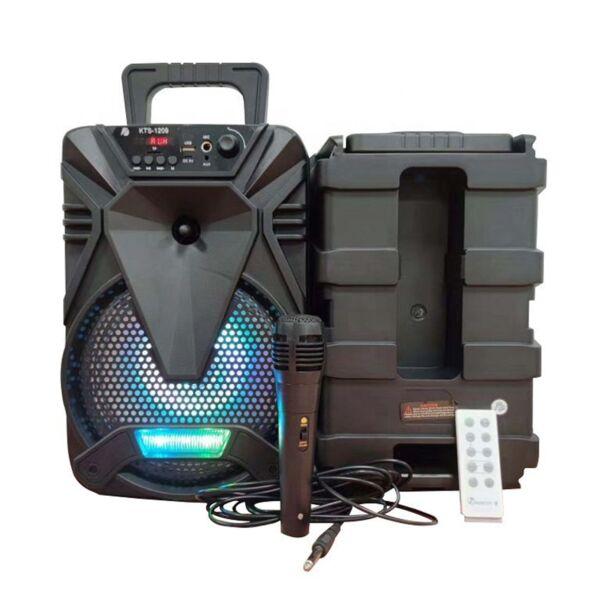 Портативна караоке тонколона 8 инча KTS 1209 с микрофон - USB/BLUETOOTH/TF/REMOTE и други