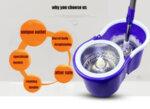 Spin Mop с метална центрофуга за изстискване