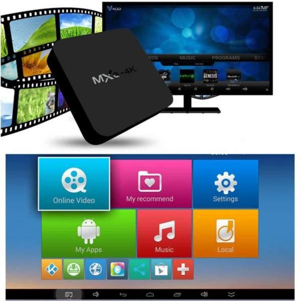 Smart TV BOX MXQ PRO-4K Ultra HD 60fps Android+Опциално Клавиатура (MINI)  Смарт ТВ Бокс