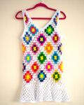 Плетена мини рокля CROCHENA
