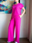 Розов спортен панталон