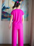 Панталон с висока талия и ластик