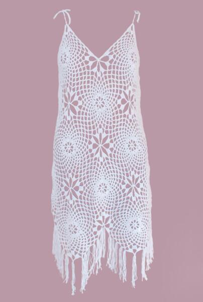 Къса плетена рокля