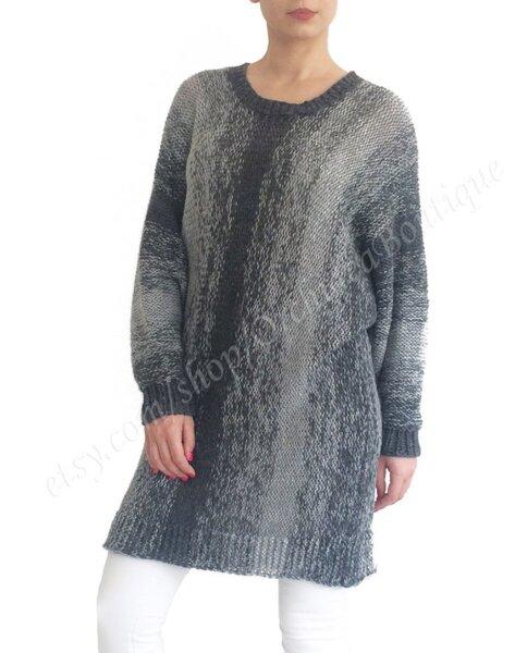 Ръчно плетен пуловер INES