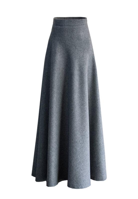 Дълга дамска вълнена пола