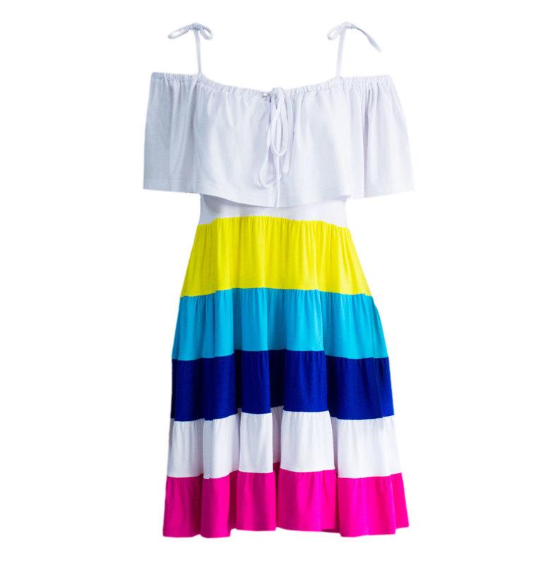 Къса ежедневна дамска рокля от трико