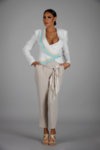 Панталон със сатенен колан Еlisabetta Franchi