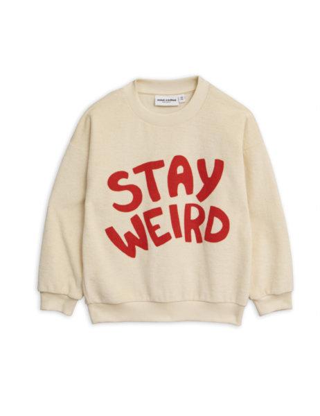 "Mini Rodini Суитшърт с принт ""Stay weird"""