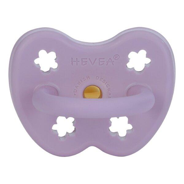 Цветен биберон Hevea Lavender 3-36м