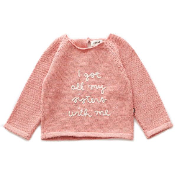 """Oeuf NYC Пуловер с ръкави тип реглан """"Sisters"""""""