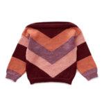 Oeuf NYC Пуловер с цветен шеврон