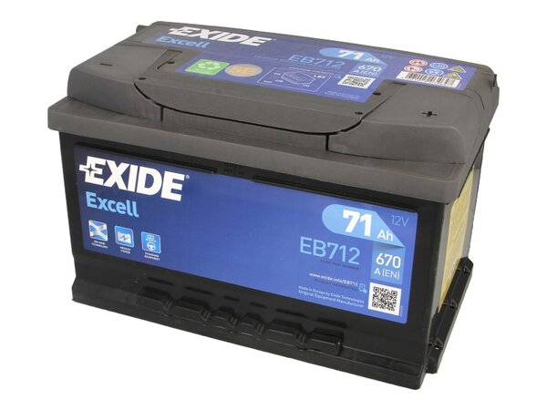 EXIDE 71AH 670A EXCELL R+