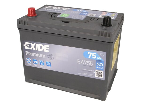 EXIDE 75AH 630A PREMIUM L+