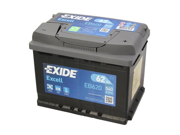 EXIDE 62AH 540A EXCELL R+