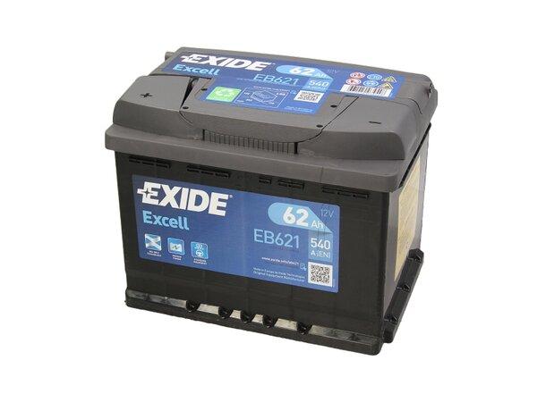 EXIDE 62AH 540A EXCELL L+