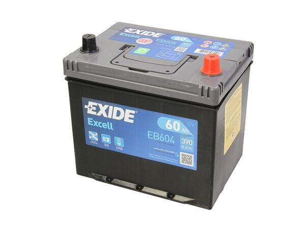 EXIDE 60AH 390A EXCELL R+