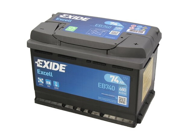 EXIDE 74AH 680A EXCELL R+