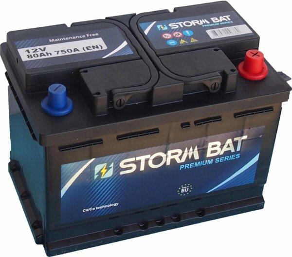 STORM BAT 80AH 750A R+