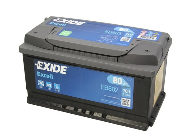 EXIDE 80AH 700A EXCELL R+