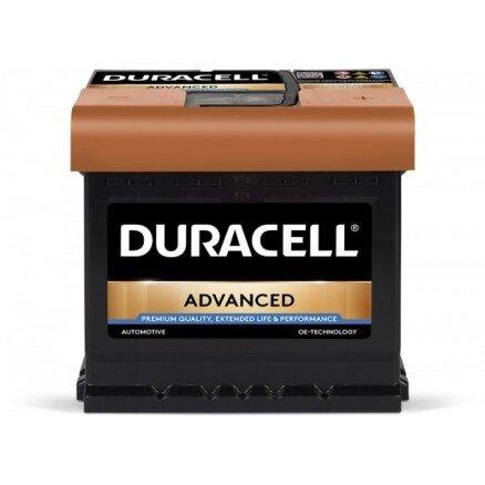 DURACELL 50AH 450A ADVANCED R+
