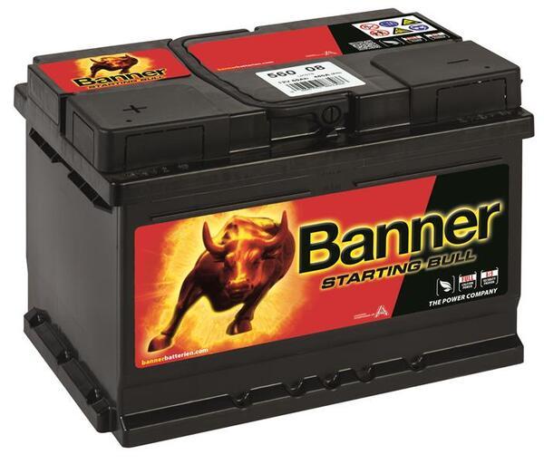 BANNER 60AH 480A STARTING BULL L+